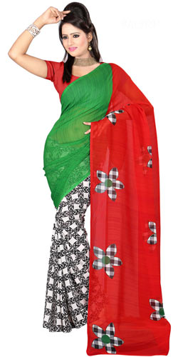 Remarkable Faux Gorgette Printed Saree