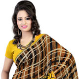 Enticing Faux Georgette Printed Saree