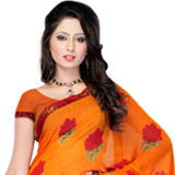 Flowery Flair Georgette Saree