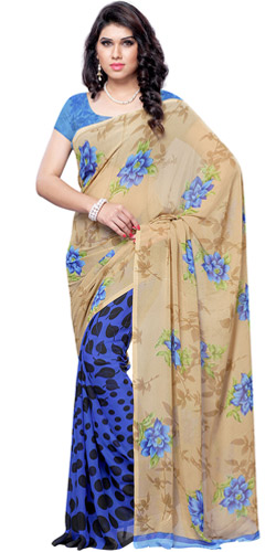 Fancy Poise Faux Georgette Saree