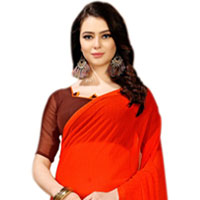 Mesmerizing Ladies Special Marble Chiffon printed Saree in Vibrant Color
