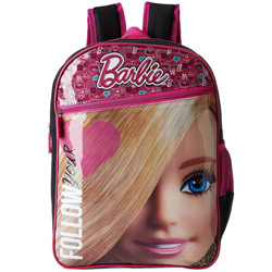 Attractive Barbie Pink and Black Backpack