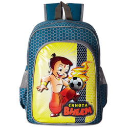 Delightful Chhota Bheem Design Blue Color Backpack