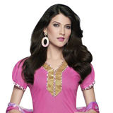 Attractive Pink Coloured Patiala Suit