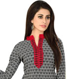 Classy Welcome Cotton N Chiffon Printed Salwar Suit for Women