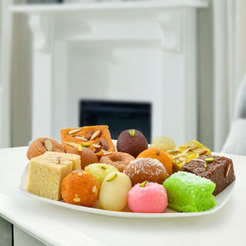 Awesome Haldirams Mixed Sweets Platter