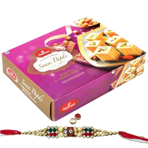 Soan Papdi from Haldiram with 1 Free Rakhi,