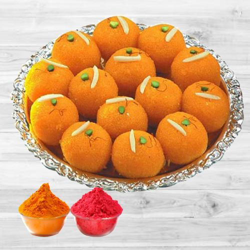 Delicious Motichur Ladoo from Haldiram