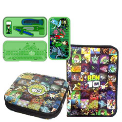 Classic Combination of Ben 10 Geometry Box, CD Cover and Zipper File Pack