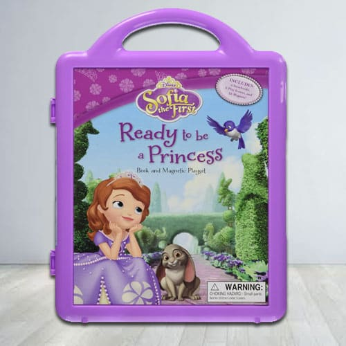 Story Book and Magnetic Play Set of Disnesys Princes Sofia