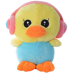 Trendy Duck with an Earphone