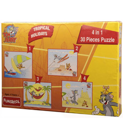 Superb Funskool Tom and Jerry 4 in 1 Puzzle