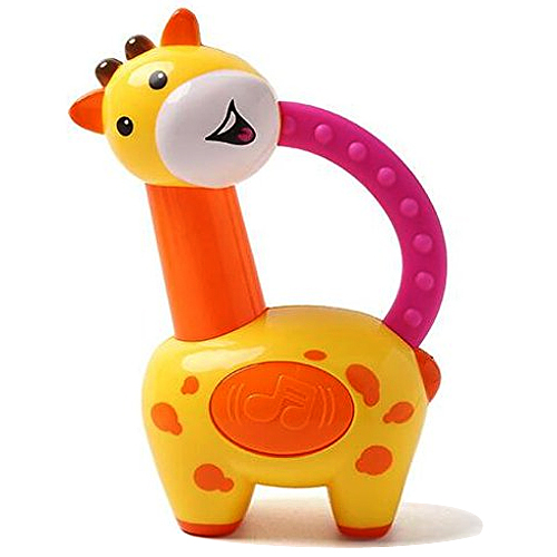 Exclusive Toddlers Collection of Colorful Giraffe Clacker Rattle from Fisher-Price