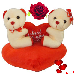 Smart Looking Couple Teddy with Essence of Love
