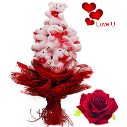 Soft Teddy Bear Bouquet for Your Valentine