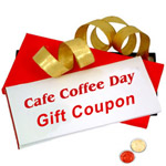Gift Coupon for CAFE COFFEE DAY Worth Rs. 500 with free Roli Tilak and Chawal