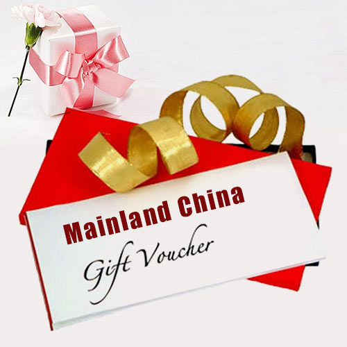 Alluring gift voucher  from Mainland China worth Rs.2000