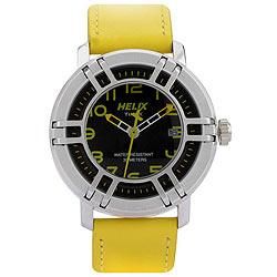 Special Timex Helix Drifter Analog Watch in Black and Yellow