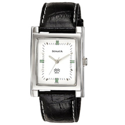 Fashionable and Formal Rectangular Titan Sonata Gents Watch