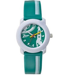 Fashionable White and Green Kids Watch Brought to You by Titan Zoop