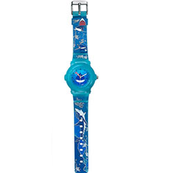 Astonishing Oceanic Printed Blue Coloured Watch for Kids Presented by Titan Zoop