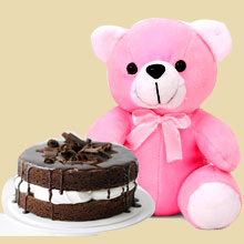 Cake with Teddy Delivery in India