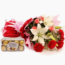 Flowers with Chocolates Delivery in India