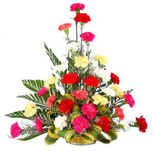 30 Mixed Carnations Arrangement